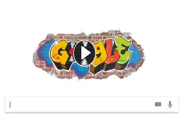 Google Hip Hop'un 44. yılı için doodle hazırladı