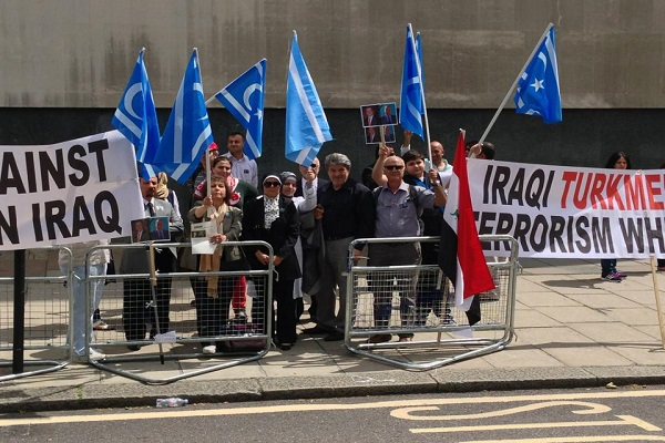 İngiltere Irak Türkmen Cephesi protestosu