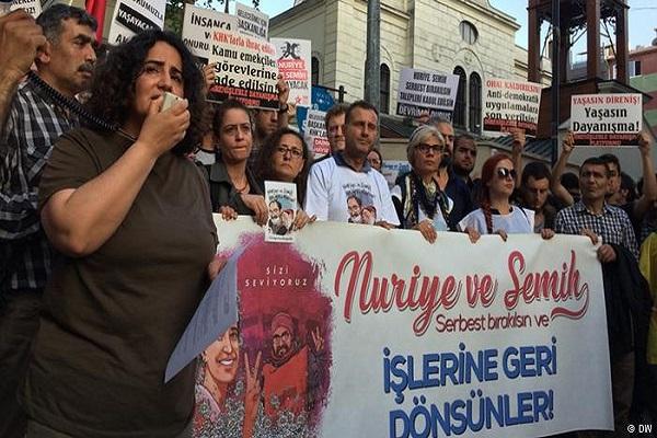 Nuriye Gülmen ve Semih Özakça için toplandılar