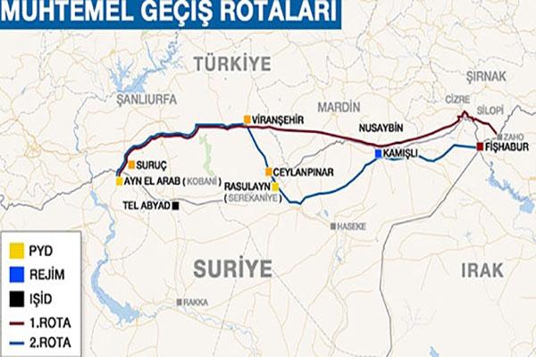 Türkiye'den Kobani'ye Peşmerge geçişi başladı
