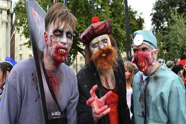Londra Sokaklarında 'Zombi' İstilası