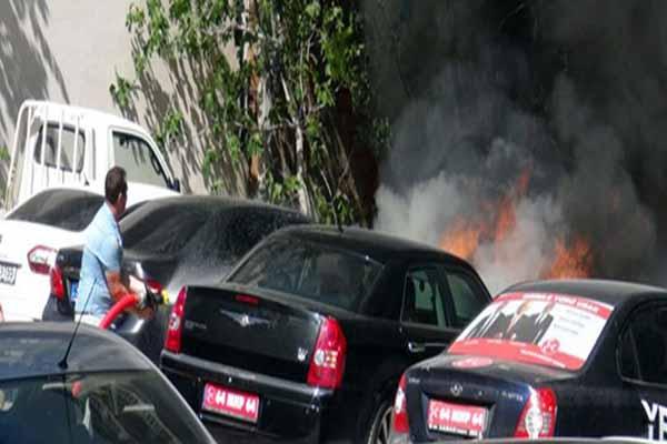 MHP mitingi sırasında korkutan yangın