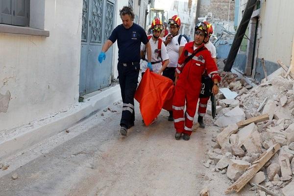 Midilli Adasında deprem çalışmaları devam ediyor