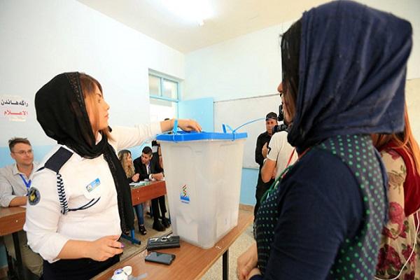 Kuzey Irak'ta oy verme işlemleri sürüyor