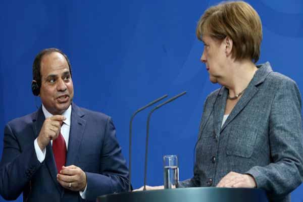 Almanya'da Sisi protesto edildi