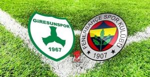 Giresunspor Fenerbahçe kupa maçı canlı yayın bilgileri
