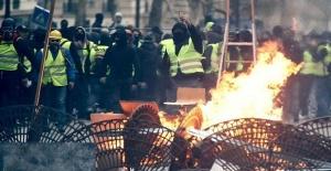 Sarı yelekliler protestosunda 242 kişi gözaltına alındı