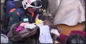 Rusya'daki patlamada 11 aylık bebeğin mucize kurtuluşu