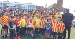 Göztepe FC London Futbol Akademisinde...