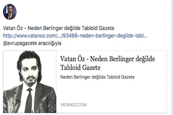 Neden Berlinger değilde Tabloid Avrupa Gazete Boyutları