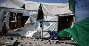 Gazze Şeridindeki çadırlar yakıldı