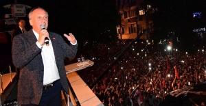 Muharrem İnce Erdoğan'ın o sorusuna meydandan cevap verdi