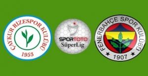 Fenerbahçe Çaykur Rizespor'a konuk oluyor
