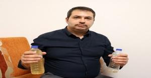 İçmeyi unuttuğu pet şişedeki suyun rengi değişince hayatının şokunu yaşadı