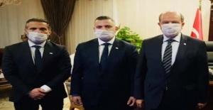 Cumhurbaşkanı Ersin Tatar, TTFF Başkanı Osman Ercen ve beraberindeki heyeti kabul etti