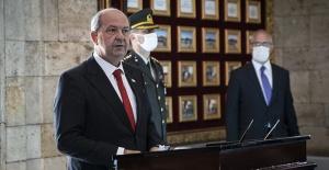 Kuzey Kıbrıs Türk Cumhuriyeti Cumhurbaşkanı Tatar'dan İki devletli çözüm hatırlatması