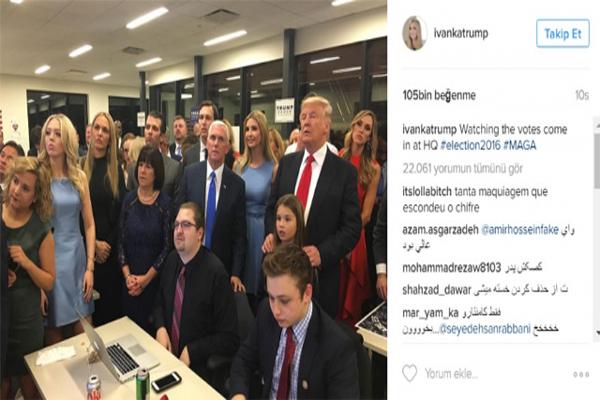 Trump'ın kızının paylaştığı o fotoğraf magazin gündemine oturdu