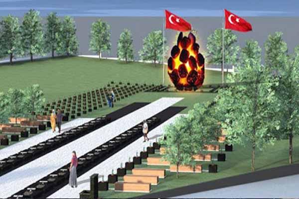 Soma'da tartışma konusu olan yanan kömür heykeli