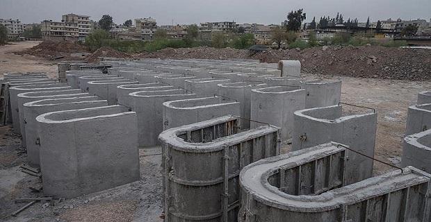 Teröristlerin Afrin'deki beton fabrikası bulundu