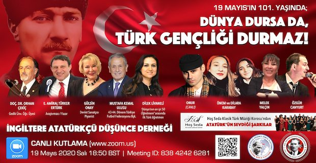 İADD19 Mayıs Atatürkü Anma, Gençlik ve Spor Bayramını zoom canlı yayında kutluyor