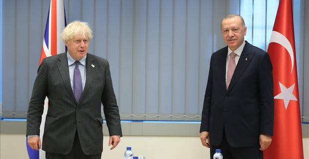 Birleşik Krallık Başbakanı Johnson, Cumhurbaşkanı Erdoğan ile görüştü