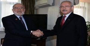 CHP lideri Kılıçdaroğlu, Temel Karamollaoğlu'nu ziyaret etti